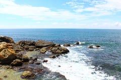 Rocks on the shore of the Indian ocean, Sri Lanka Royalty Free Stock Photos