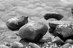 Rocks. On the shore of a lake Royalty Free Stock Photography