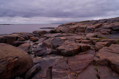 Rocks on the shore of White Sea Royalty Free Stock Photography