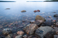 Rocks on the shore of the White Sea Stock Photography