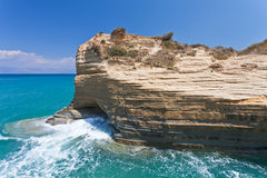 Rocks of Sidari on Corfu. Greece, Corfu Royalty Free Stock Photography