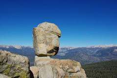 Rocks with Sierra Nevada and Edison Lake. In the distance, California Stock Images