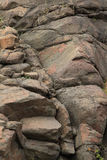 Rocks at Silver Creek Cliff  in Northern Minnnesota Royalty Free Stock Photos