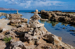 Rocks skulpturer Arkivbilder
