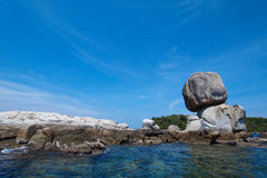 Rocks sky. Blue sky with the rocks Royalty Free Stock Image