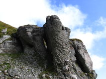 Rocks and sky stock image