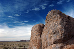 Rocks and Sky. Large rock cliffs and deep blue sky in New Mexico's City of Rocks Royalty Free Stock Photo