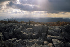 Rocks & Sky @ Dolly Sods. Rocks, Sky @ Dolly Sods, Monongahela NF, West Virginia stock image