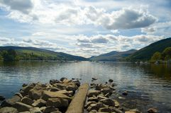 Rocks,sky and lake. Loch tay Stock Photo