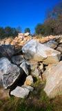 Rocks and Sky. Rock heap near Quarry Park in Rocklin Ca Stock Photos
