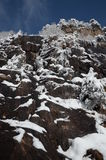 Among the rocks and snow Royalty Free Stock Photography