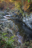 Rocks of Solitude Gorge on the North Esk River in Scotland. Stock Image