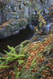 Rocks of Solitude Gorge on the North Esk River in Scotland. Stock Photos