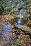 Rocks of Solitude Gorge on the North Esk River in Scotland. Royalty Free Stock Photos