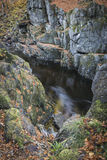Rocks of Solitude Gorge on the North Esk River in Scotland. Royalty Free Stock Images