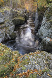 Rocks of Solitude Gorge on the North Esk River in Scotland. Stock Images