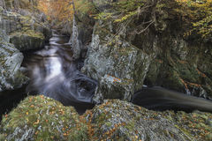 Rocks of Solitude Gorge on the North Esk River in Scotland. Stock Photography