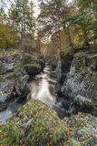 Rocks of Solitude Gorge on the North Esk River in Scotland. Royalty Free Stock Photo