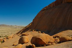 Rocks at Spitzkoppe (Namibia) Royalty Free Stock Image