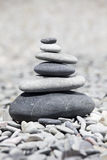 Rocks stacked on the beach Royalty Free Stock Photos