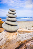 Rocks Stacked at Ruby Beach Royalty Free Stock Photography