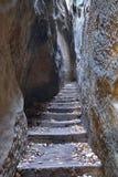 Rocks Stair - Narrow Path in Bohemian Paradise Royalty Free Stock Image