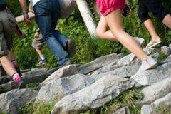 Rocks stairs Stock Photos