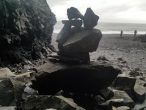 rocks staplade Arkivfoto