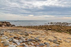 Steephill Cove, Isle of Wight. Rocks on Steephill Cove beach, near Ventnor, on the Isle of Wight stock images
