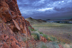Rocks and The Steppe Stock Image