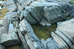 rocks, stone, wildlife of the north, Royalty Free Stock Image
