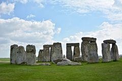 Rocks of Stonehenge On a Cloudy Summer Day. England stock images
