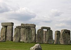Rocks of Stonehenge. On a Cloudy Summer Day royalty free stock images
