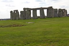 Rocks of Stonehenge. On a Cloudy Summer Day stock images