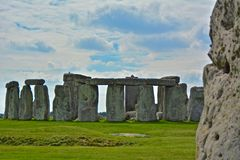 Rocks of Stonehenge On a Cloudy Summer Day, Textured Stone. Rocks of Stonehenge On a Cloudy Summer Day royalty free stock photo