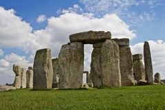 Rocks of Stonehenge. On a Cloudy Summer Day royalty free stock photo