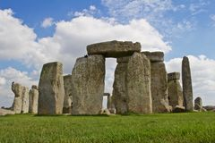 Rocks of Stonehenge. On a Cloudy Summer Day royalty free stock photos