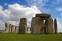 Rocks of Stonehenge. On a Cloudy Summer Day royalty free stock photography