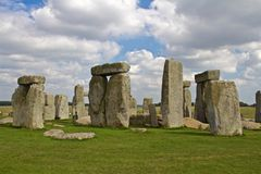 Rocks of Stonehenge. On a Cloudy Summer Day stock photography
