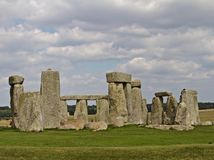 Rocks of Stonehenge. On a Cloudy Summer Day stock image