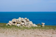 Rocks and Stones on the Beach Royalty Free Stock Photography