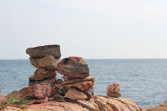 Rocks and stones. A belief in bringing stacked stone, and put in different locations Stock Photos