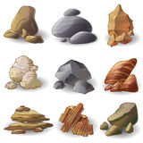 Rocks Stones Collection Royalty Free Stock Photo