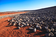Rocks and stones. At the construction field Royalty Free Stock Photography