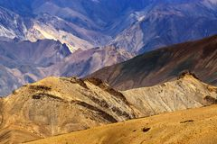 Rocks and stones, Moonland, mountains, ladakh landscape Leh, Jammu Kashmir, India Royalty Free Stock Images