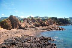 Rocks at stony coast area Stock Photography