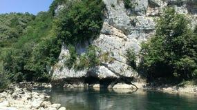 Rocks. Stoun, river, wildness, green Royalty Free Stock Photography