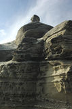 Rocks with strange shapes near Antofagasta Stock Image