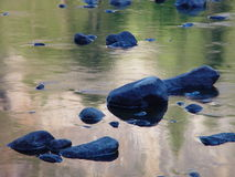 Rocks in Stream Royalty Free Stock Images