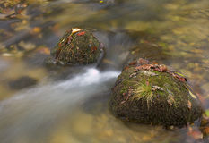 Rocks in a stream Stock Photos